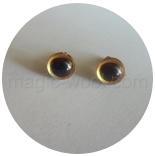 глазки для игрушек глазки 9мм золотистые