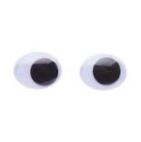 глазки для игрушек глазки подвижные овальные 10мм*15мм