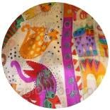 ткани и шарфы 100% шелк  для шитья, батика и валяния шарф 7