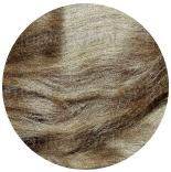 шелк Tussah цветной орех
