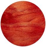 шелк Tussah цветной апельсин