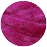 шелк Tussah цветной малина