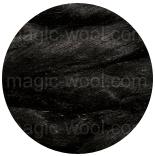 шелк Tussah цветной черный
