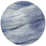 шелк Tussah цветной ярко голубой