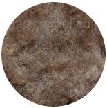 шерсть Bergschaf 29мкм коричневая натуральная