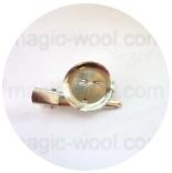 основа для броши круглая основа для броши булавка + зажим 25мм