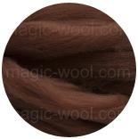 бленд(микс) в тон шерсти 18 мкм 70%мериноса + 30%шелк tussah бленд кора 70/30