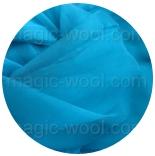 натуральный шелк 100% цветной газ шифон 3.5 бирюза