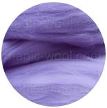 бленд(микс) в тон шерсти 18 мкм 70%мериноса + 30%шелк tussah бленд лиловый