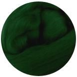 семеновская / пехорская шерсть для валяния темно-зеленый