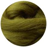 семеновская / пехорская шерсть для валяния зеленый янтарь
