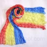 многоцветные шарфы 90см*150см шарф многоцветный 004