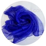 шарфы шелковые окрашенные однотонные и с переходами королевский синий
