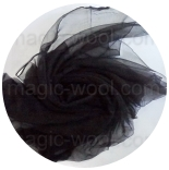 шарфы шелковые окрашенные однотонные и с переходами шарф-газ 110см*185см черный