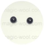 глазки для игрушек 6мм черные на ножке