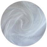 натуральный 100% шелк газ шифон (shifon) 3.5 белый 90см