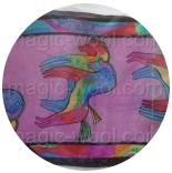 шелковый шарф с рисунком шелковый шарф 28