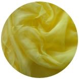 натуральный шелк 100% цветной шифон газ 3.5 солнечно желтый