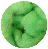 Bergschaf 29мкм Германия зеленый мелированный желтым и бирюзовым