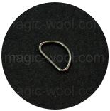 Крепления, соединительные элементы, рамки, кольца и т. д. полукольцо 25мм*15мм оксид