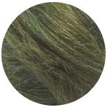 бленд 21 мкм шерсть меринос 70% с нейлоном радуга 30% зеленый мох