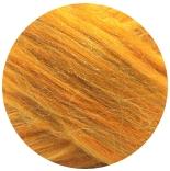 бленд 21 мкм шерсть меринос 70% с нейлоном радуга 30% блестящий янтарь