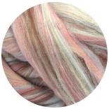 многоцветный бленд из 80% шерсти мериноса 21мкм+20% окрашенные волокна бамбука шалтай-болтай