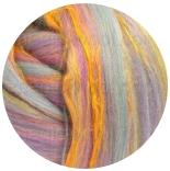 многоцветный бленд из 80% шерсти мериноса 21мкм+20% окрашенные волокна бамбука кроха