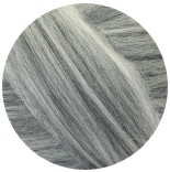 меринос натуральный (merino) + бленды меринос мелированный серый 20мкм