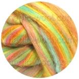 многоцветный бленд из 80% шерсти мериноса 21мкм+20% окрашенные волокна бамбука летящее лето
