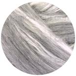 меринос натуральный (merino) + бленды меринос мелированный серый с шелком tussah