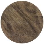 шерсть яка (Yak) коричневый натуральный в гребенной ленте