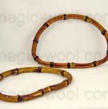 бамбуковые и деревянные ручки для сумок Ручки для сумок Zlatka 140х100 мм.