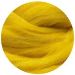 бленд(микс) в тон шерсти 18 мкм 70%мериноса + 30%шелк tussah желток