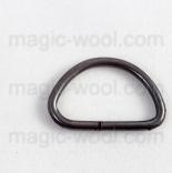 Крепления, соединительные элементы, рамки, кольца и т. д. полукольцо мобильное 9мм темный никель