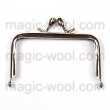 Рамочные замки, цепочки для сумок рамочный замок(фермуар) 7,5см*5см никель