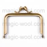 Рамочные замки, цепочки для сумок рамочный замок(фермуар) 7,5см*5см античное золото