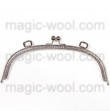 Рамочные замки, цепочки для сумок металлическая рамка 25*10см никель