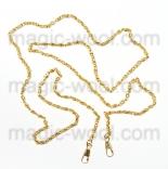 Рамочные замки, цепочки для сумок ажурная золото 118см