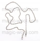 Рамочные замки, цепочки для сумок ажурная никель 118см