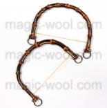 бамбуковые и деревянные ручки для сумок бамбуковые ручки 160мм*120мм