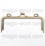 Рамочные замки, цепочки для сумок металлическая рамка (фермуар) 24*9см