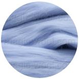 семеновская / пехорская шерсть для валяния голубой