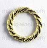 Крепления, соединительные элементы, рамки, кольца и т. д. кольцо плетеное 30мм золото
