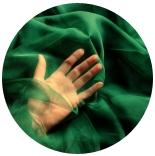 натуральный шелк 100% цветной газ шифон 3.5 темно зеленый