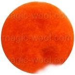кардочесанная шерсть Маори (Италия) 25-27мкм апельсин