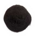 кардочесанная шерсть Маори (Италия) 25-27мкм черный