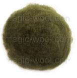 кардочесанная шерсть Маори (Италия) 25-27мкм олива