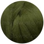 шерсть Wensleydale темно-зеленая