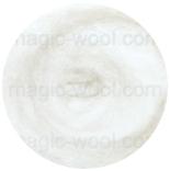 новозеландская кардочесанная шерсть (Латвия) 27мкм белоснежный К1000